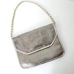 Ivanka Trump Shoulder Bag Gold Foil Chain Strap